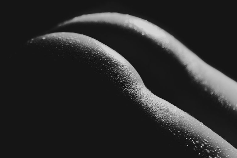 Black and White Bodyscaping Pictures, Las Vegas Boudoir photography art.
